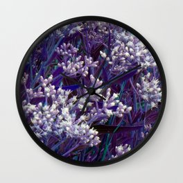 Bunches of Tiny Flowers Wall Clock