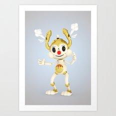 Steam Bunny Art Print