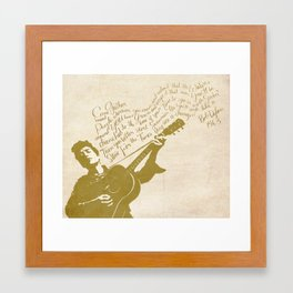 Dylan Framed Art Print