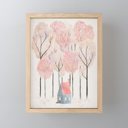Cabin in the Woods Framed Mini Art Print