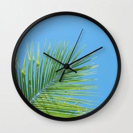 Vibrant Green Palm Leaf - Summer Tropical Vibe Wall Clock