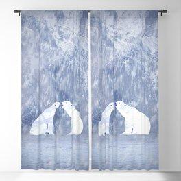 The love of polar bears Blackout Curtain