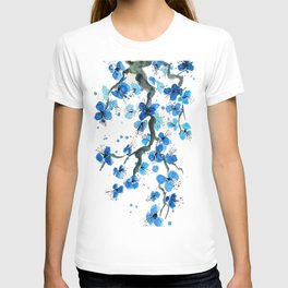 Blue Japanese Blossoms T-shirt