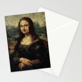Mona Lisa on tiles Stationery Cards