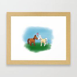 Horse Lovers Framed Art Print