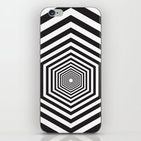 hexagon iPhone & iPod Skins featuring Hexagon by Vadeco