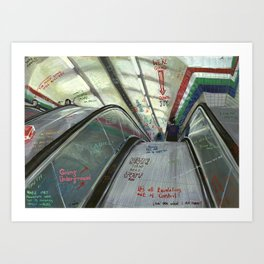 London #5. Piccadilly tube station Art Print
