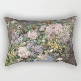 """Auguste Renoir """"Spring bouquet"""" Rectangular Pillow"""