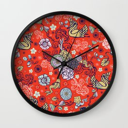 Cranes´ Flight Wall Clock