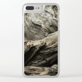 Etched by Nature Scarred by Man Clear iPhone Case