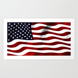 American Flag USA Art Print