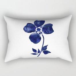 Blue & White Flower - 1 Rectangular Pillow