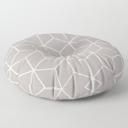 Cube Geometric 03 Grey Floor Pillow