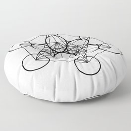 Metatron's Cube Floor Pillow