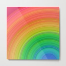 Bright Rainbow | Abstract gradient pattern Metal Print