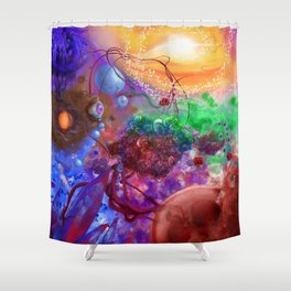 Engines of human life. Shower Curtain