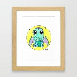 Nom Nom! Cute-thulu Framed Art Print