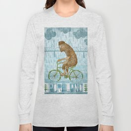 Dirty Wet Bigfoot Hipster Long Sleeve T-shirt