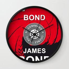 Jame Bond 007 Vintage Cinema Hollywood Poster Wall Clock