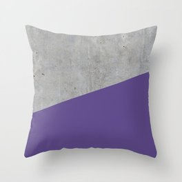 Concrete with Ultra Violet Color Throw Pillow
