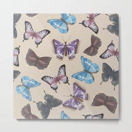 Watercolor Butterflies & Moths Metal Print
