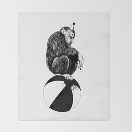 Chimp Throw Blanket