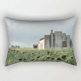 Abandoned house in the Pampa house in the Pampa. Rectangular Pillow