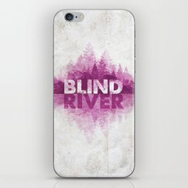 Blind River Trees (pink) iPhone Skin