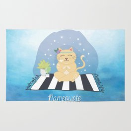 Nameowste Yoga Cat Rug