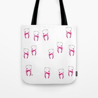 tooth Tote Bags featuring Tooth by - OP -