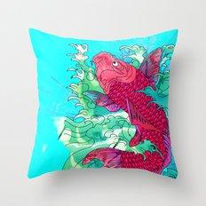Lucky Koi Throw Pillow