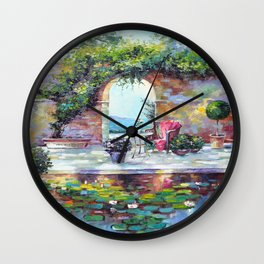Cozy courtyard Wall Clock