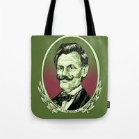 lincoln Tote Bags featuring Lincoln by Esteban Ruiz