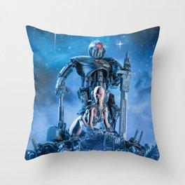 The Quantum Warrior Throw Pillow