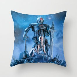 The Quantum Warrior Throw Pillow