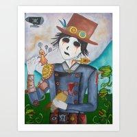 steampunk Art Prints featuring Steampunk by Lynne Gryphon