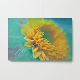Vintage sunflower 3 Metal Print