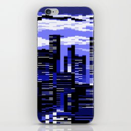 pxl cityscape iPhone Skin