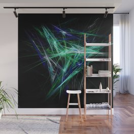Green light beam Wall Mural