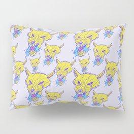 Neon Wolf Pattern Pillow Sham