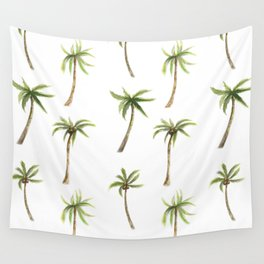Watercolor palm trees pattern Wall Tapestry
