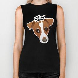 Jack Russell Terrier Portrait Biker Tank
