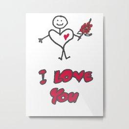 Heartman - I Love You Metal Print