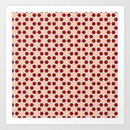 red&skin patern Art Print