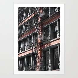 NY stairs Art Print