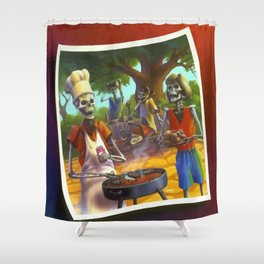 Say Cheese and Die! Shower Curtain