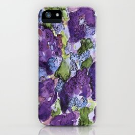 Lilacs Abstract iPhone Case