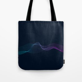 Abstract network design with particle blue light Tote Bag