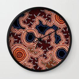 Aboriginal Art Authentic - Pathways Wall Clock