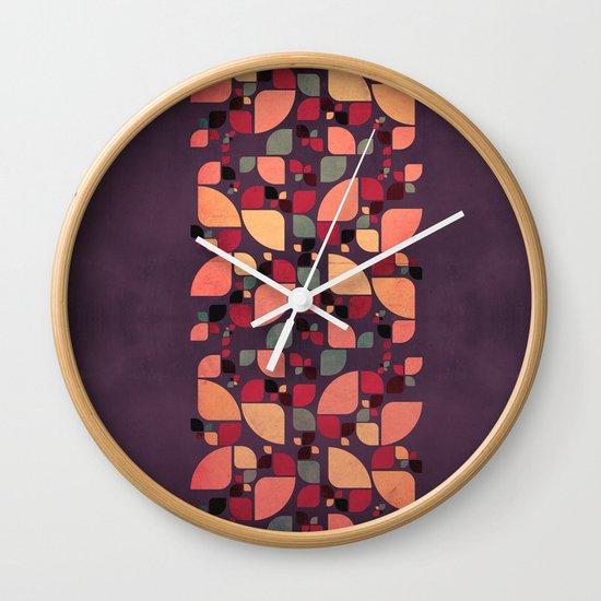 Vintage Butterflies Pattern Wall Clock